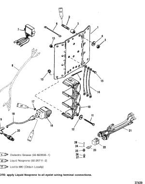IGNITION COILVOLTAGE REGULATOR FOR MARINER  MERCURY 150175200 EFI