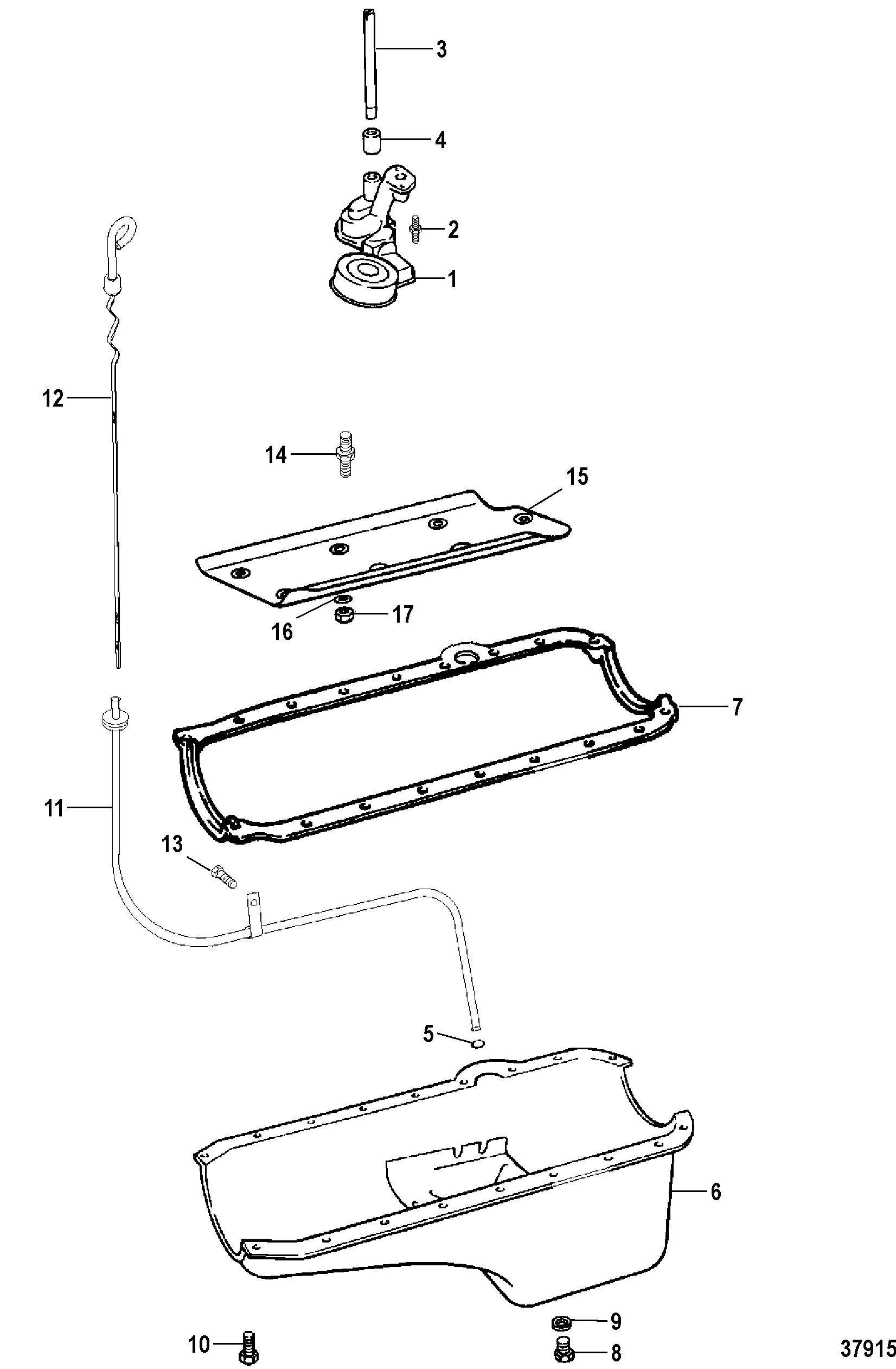 Oil Pan And Oil Pump For Mercruiser 7 4l Bravo I Ii Iii