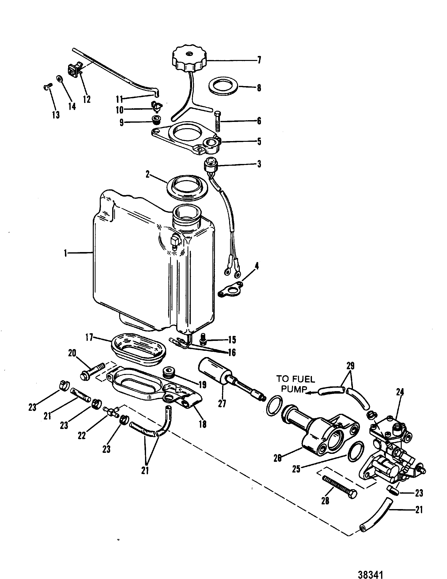 Oil Injection Components For Mariner Mercury 70 75 80 90