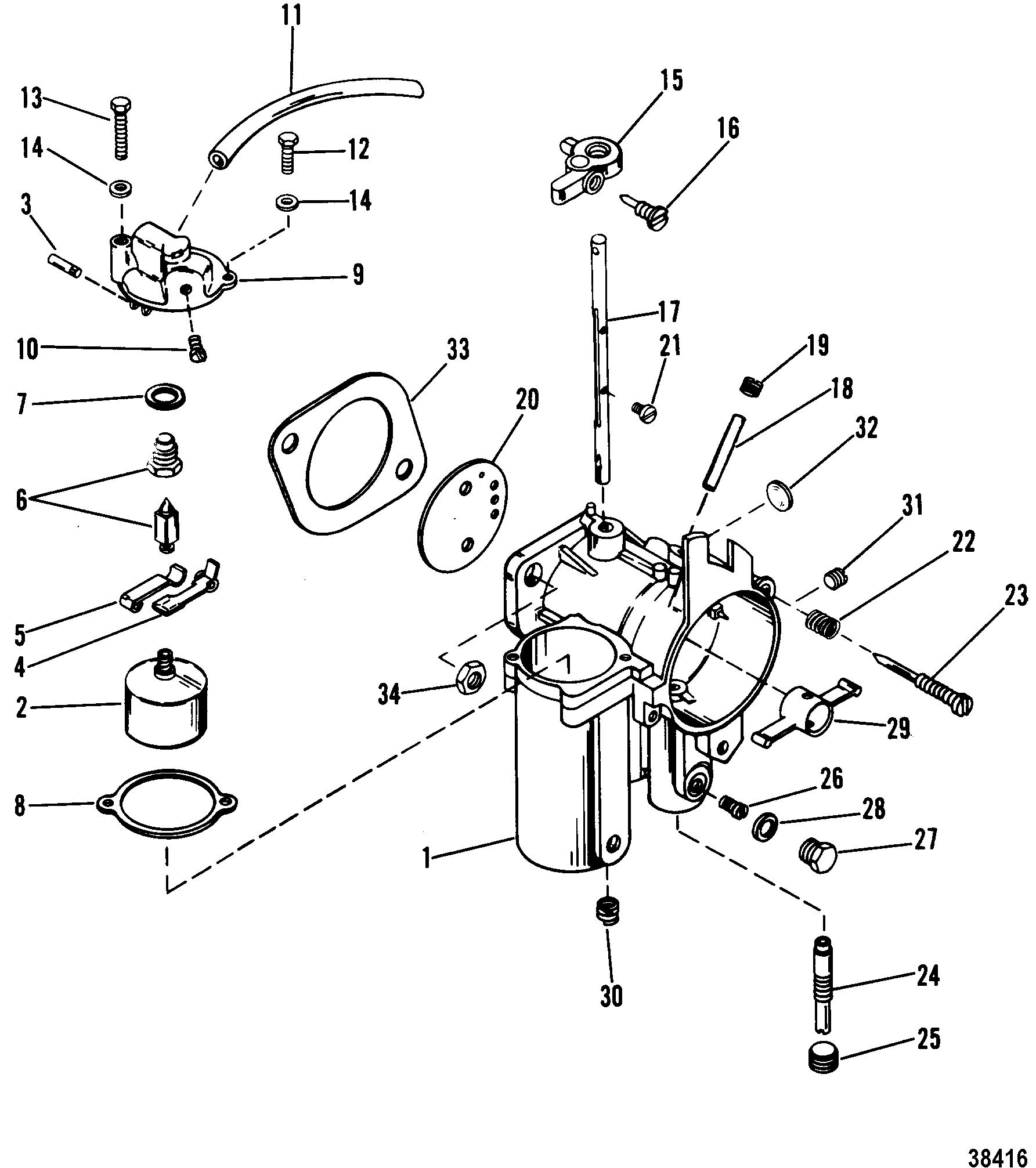 50 Hp Mercury Carburetor Diagram