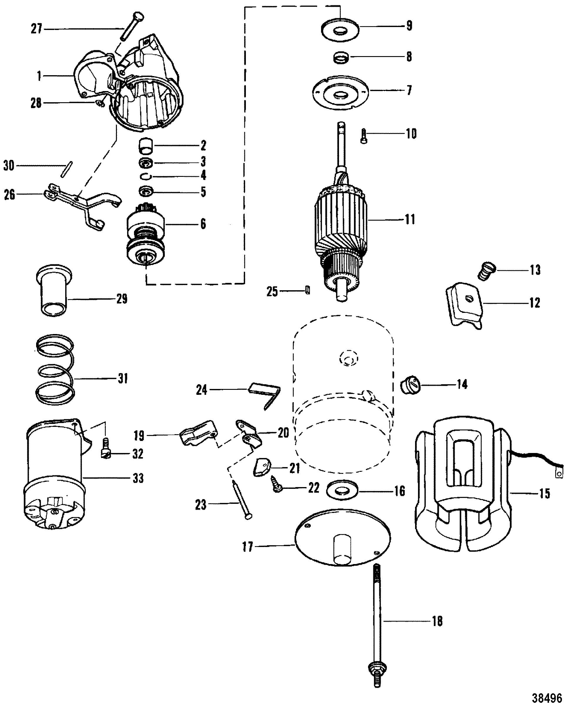 Starter Motor Use With 14 Flywheel For Mercruiser 898 200 228 230 260 Hp R Mr Alpha One