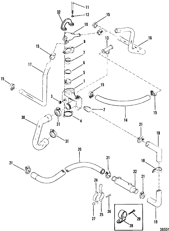 Standard Cooling System Design I For Mercruiser 200 5 0l Lx 260 5 7l 350 Mag Alpha Bravo
