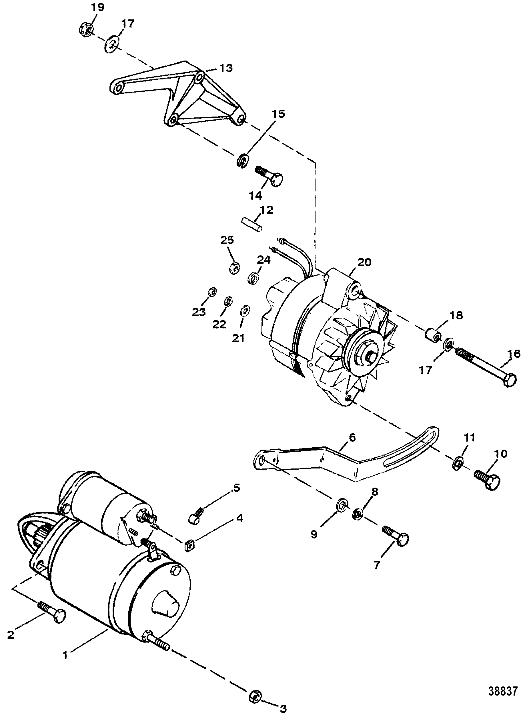 Starter And Alternator For Mercruiser 7 4l 454 Mag Bravo Gen V