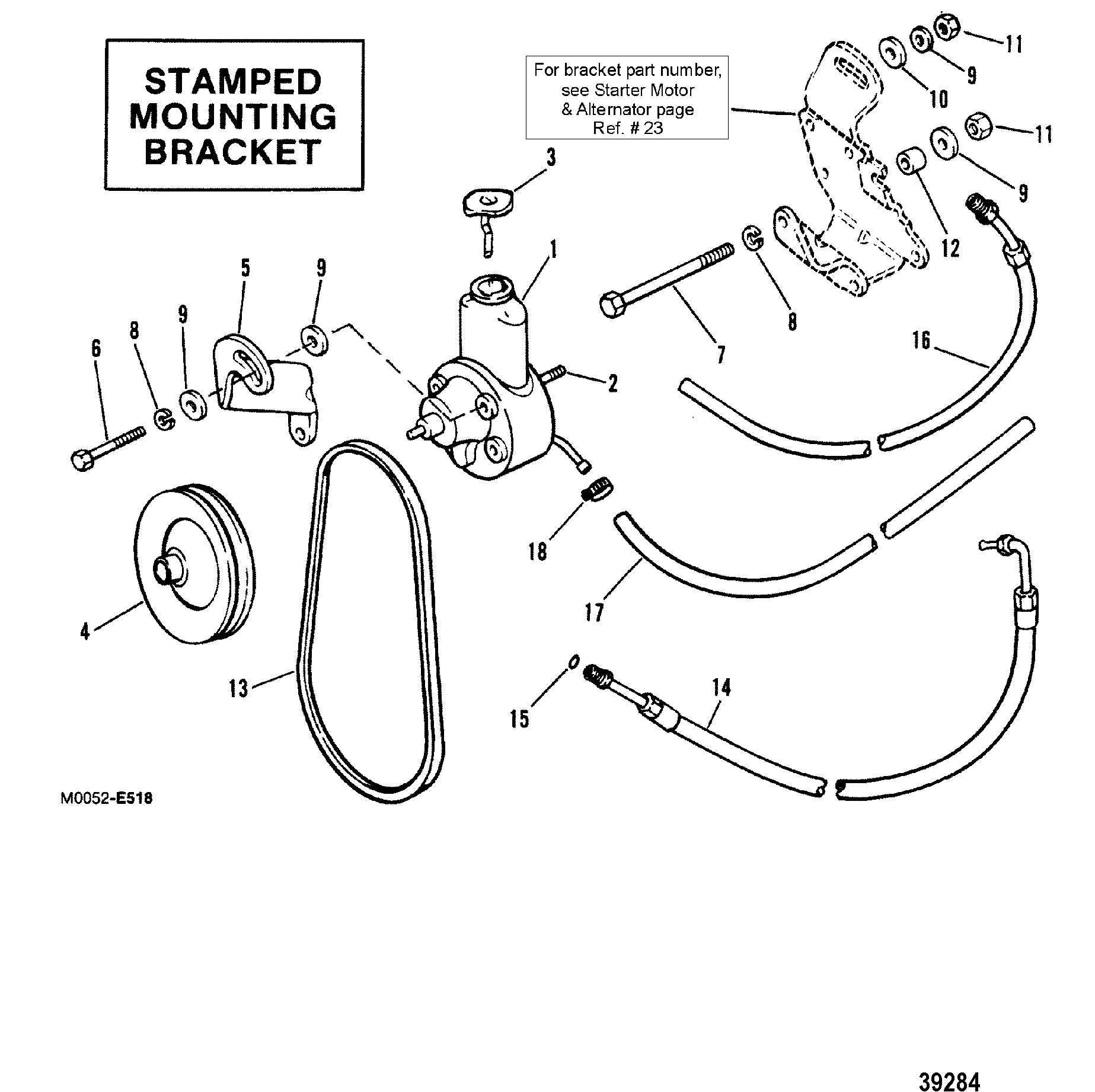 Power Steering Components Stamped Mounting Bracket For