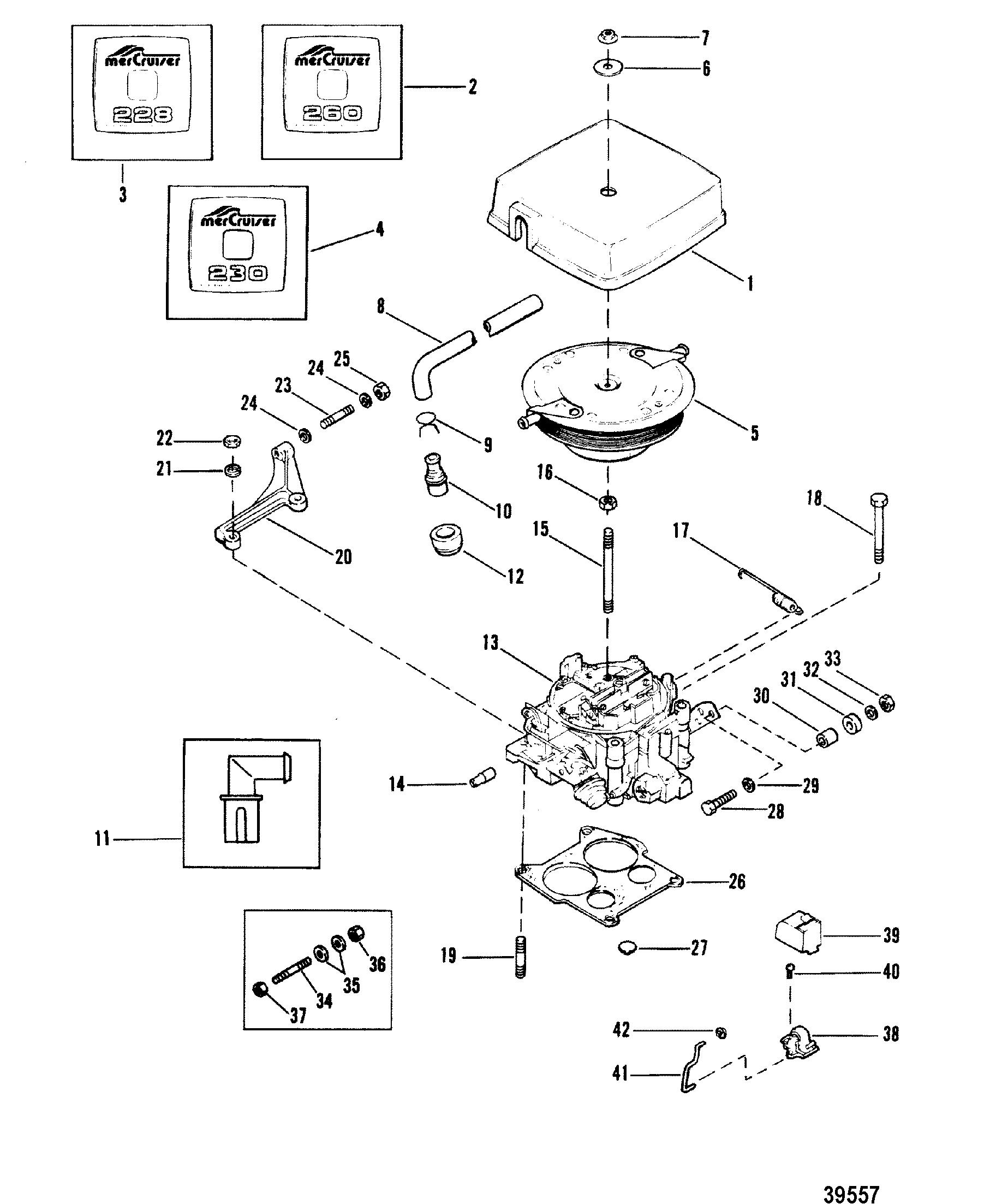 Carburetor And Throttle Linkage 228