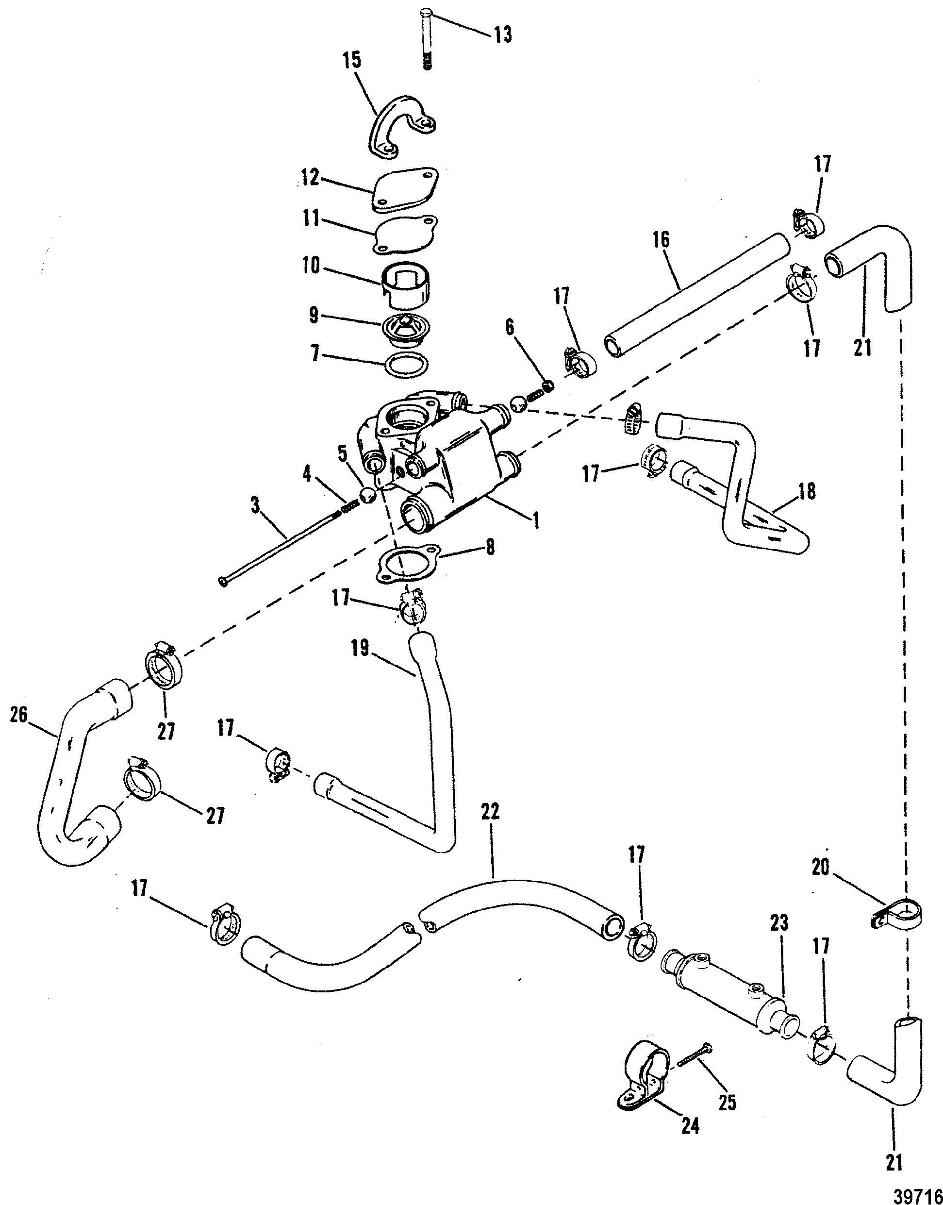 Standard Cooling System For Mercruiser 4 3l 4 3lx Alpha