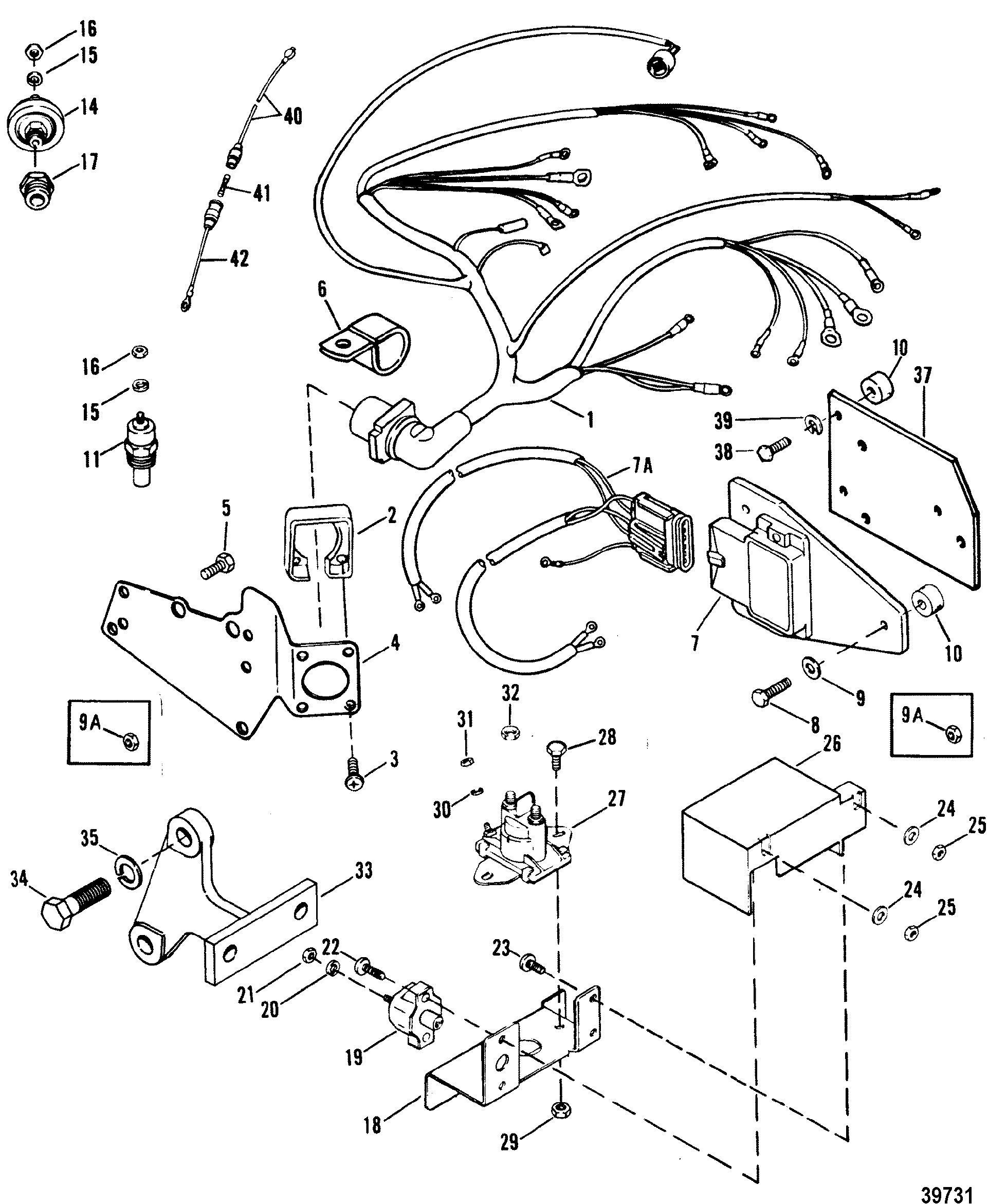 Wiring Harness Electrical And Ignition For Mercruiser 7