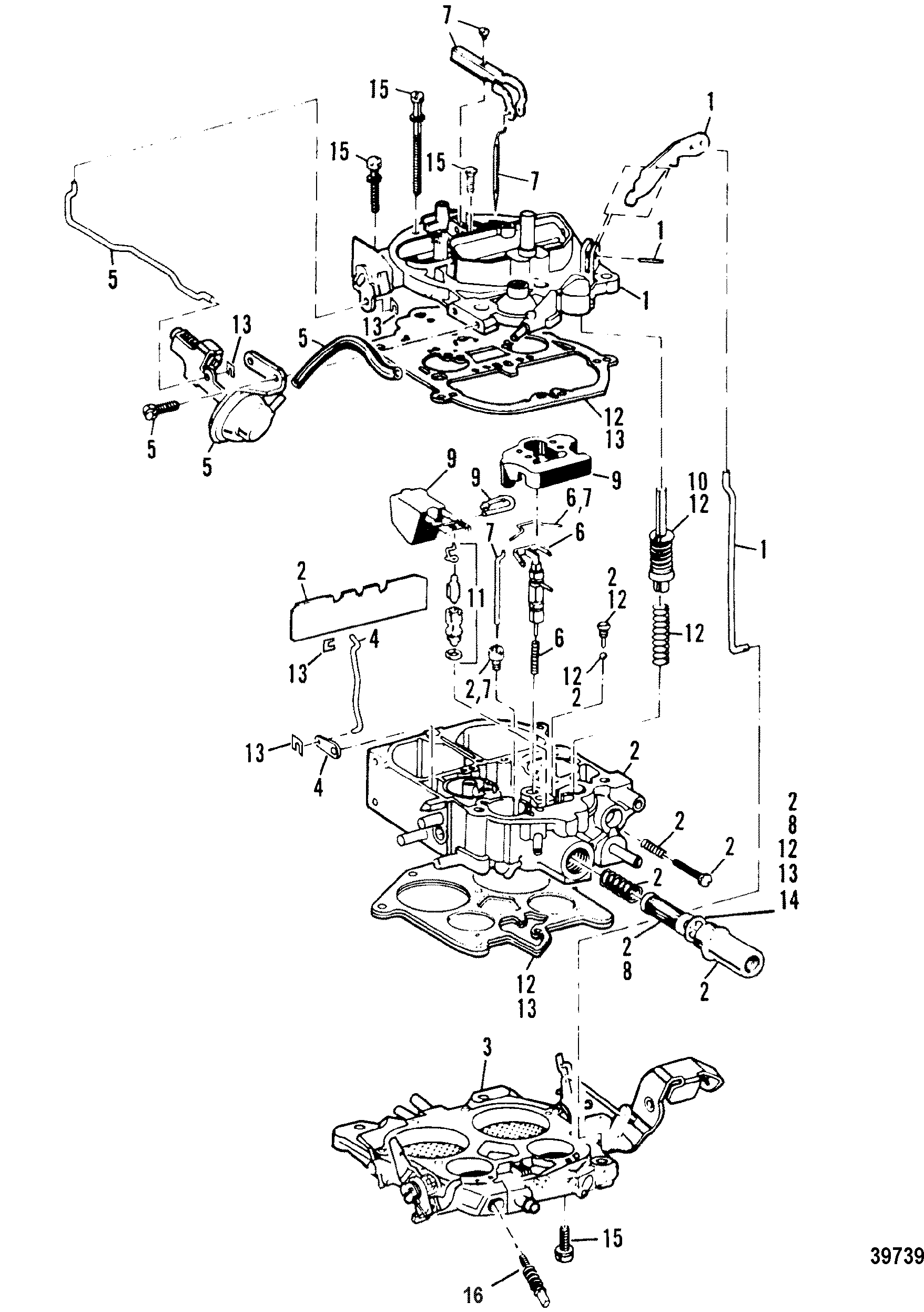 Carburetor For Mercruiser 7 4l Bravo