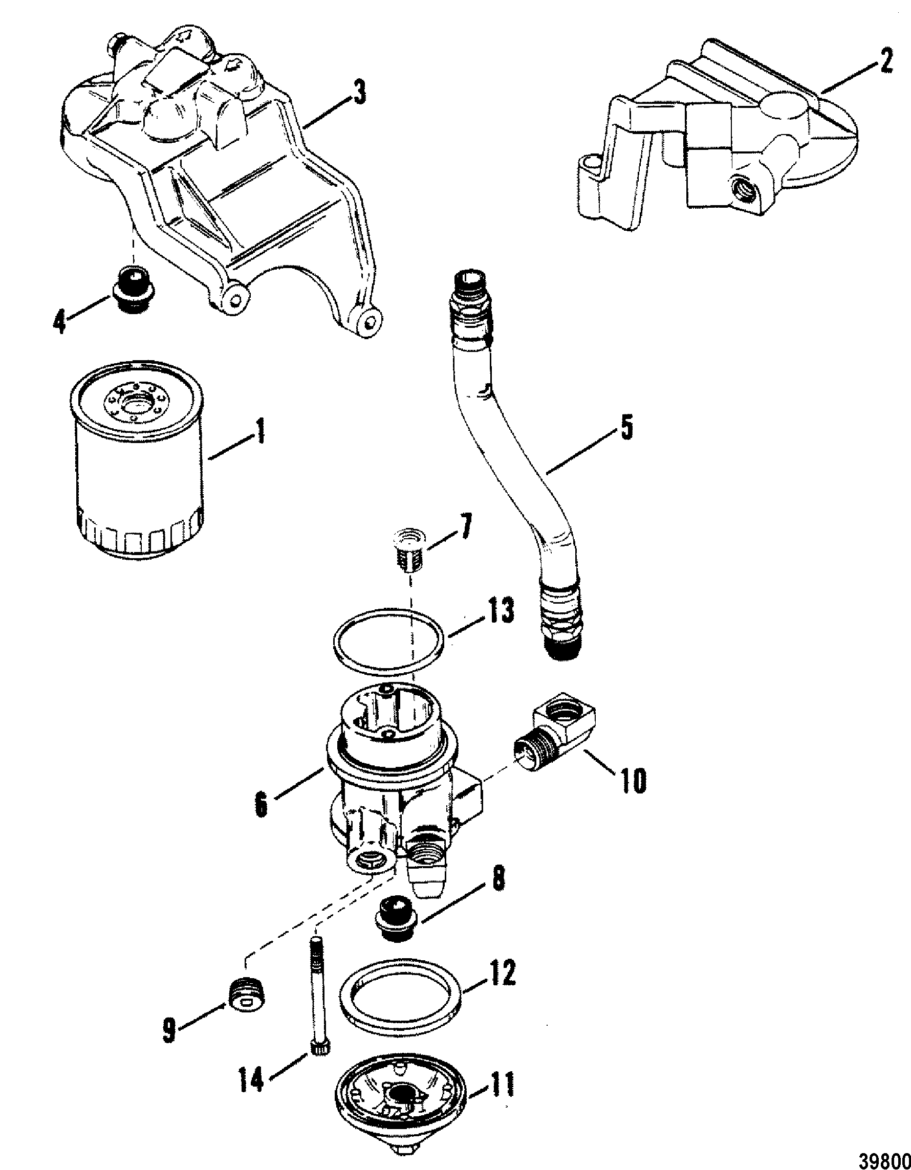 Oil Filter And Adapter For Mercruiser Mie 230 Hp 260 H P
