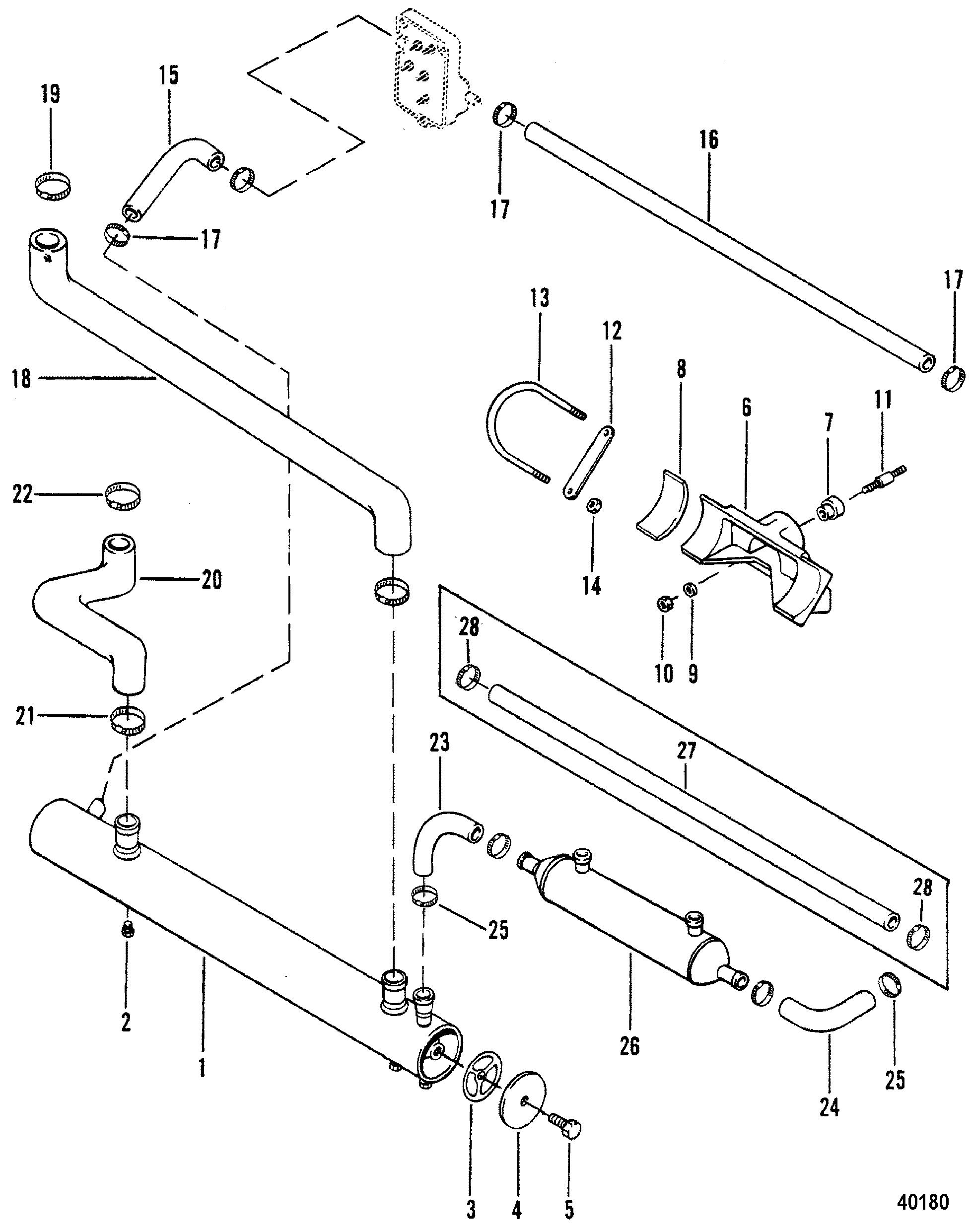 Heat Exchanger For Mercruiser 470 Engine