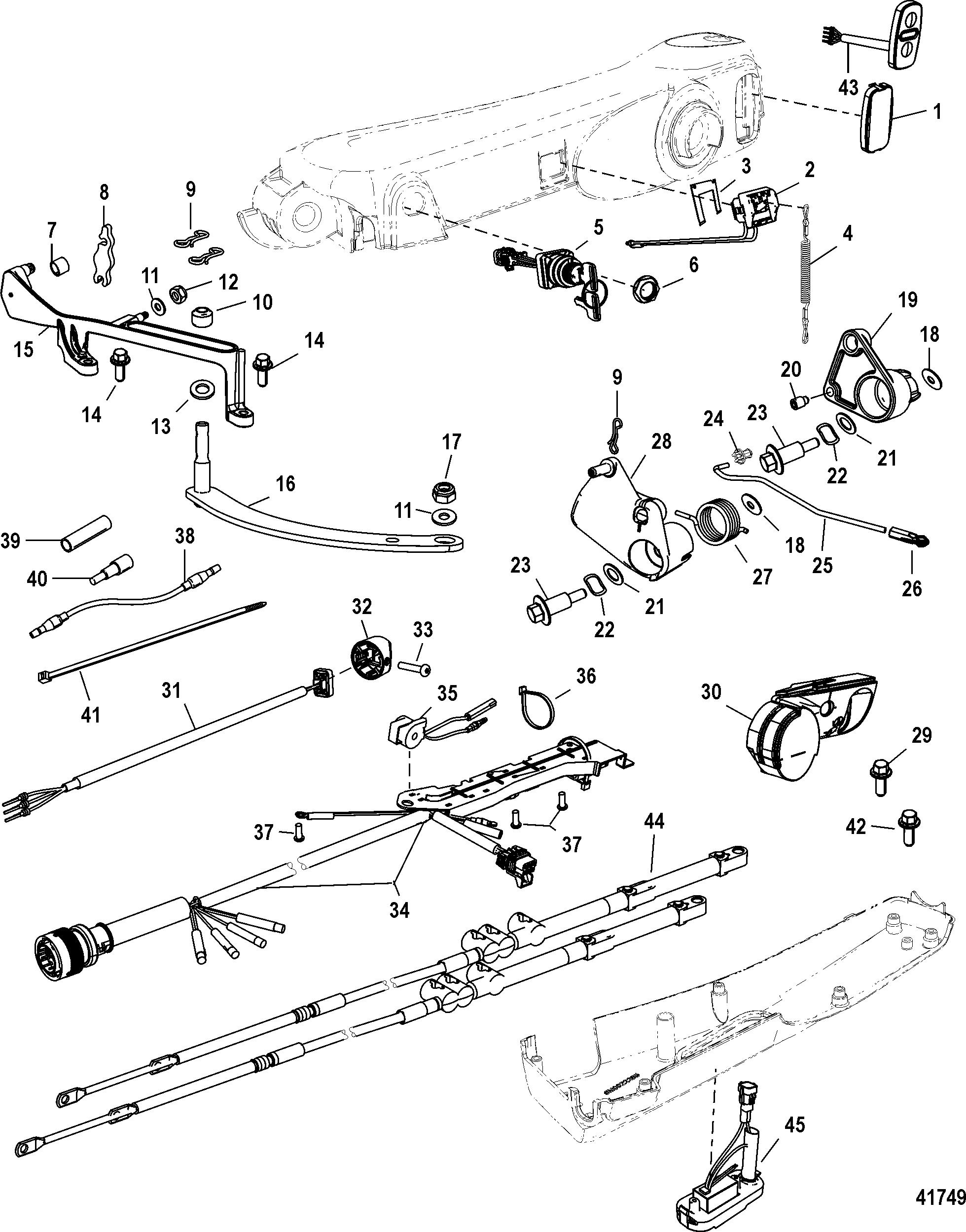 Big Tiller Handle Kit Components Manual 40 60 Elhpt For