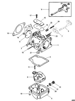 Carburetor FOR MARINER  MERCURY 115125 HP JET 80 4