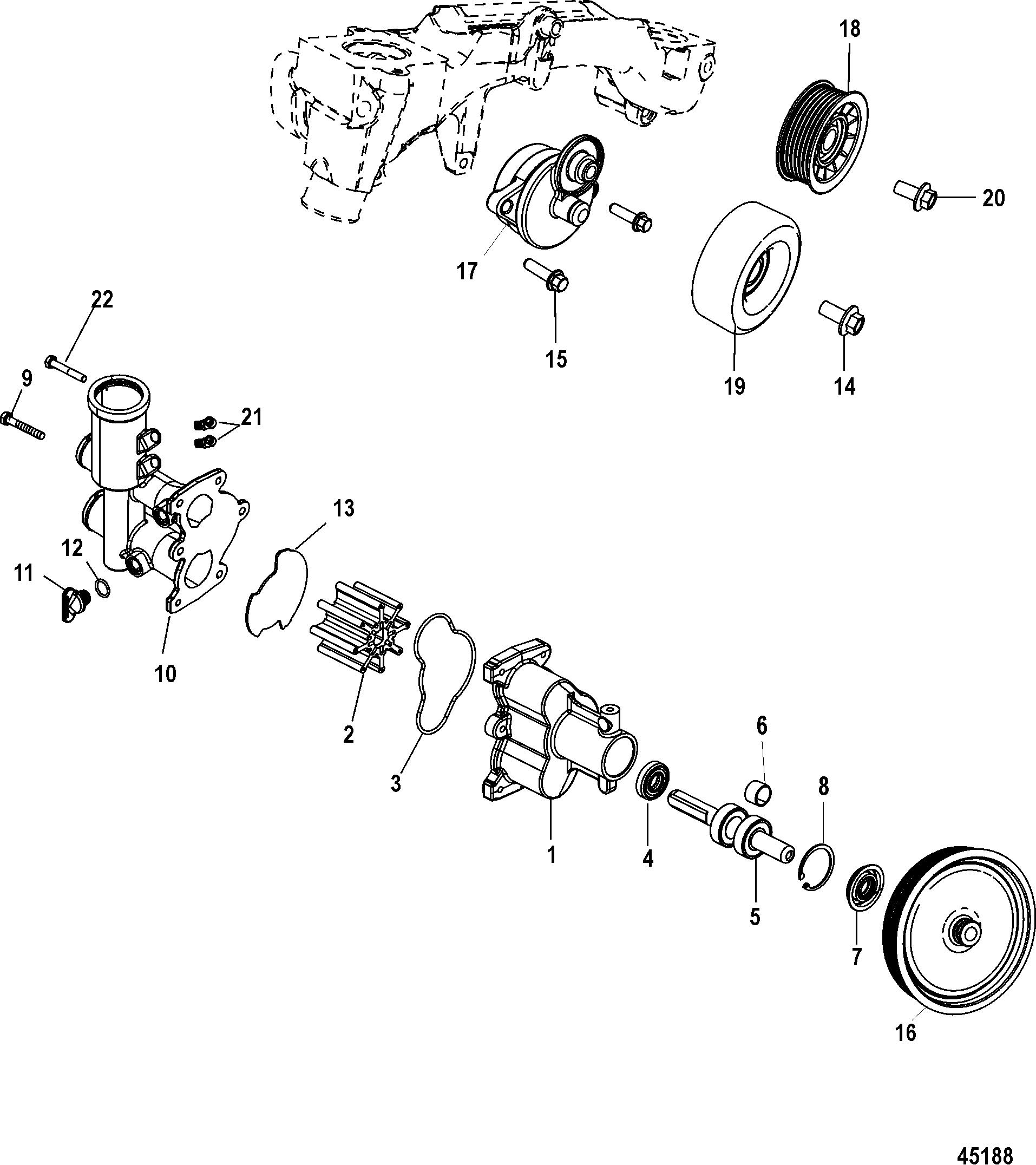 Seawater Pump For Mercruiser 8 2l Mag 8 2l Mag Ho