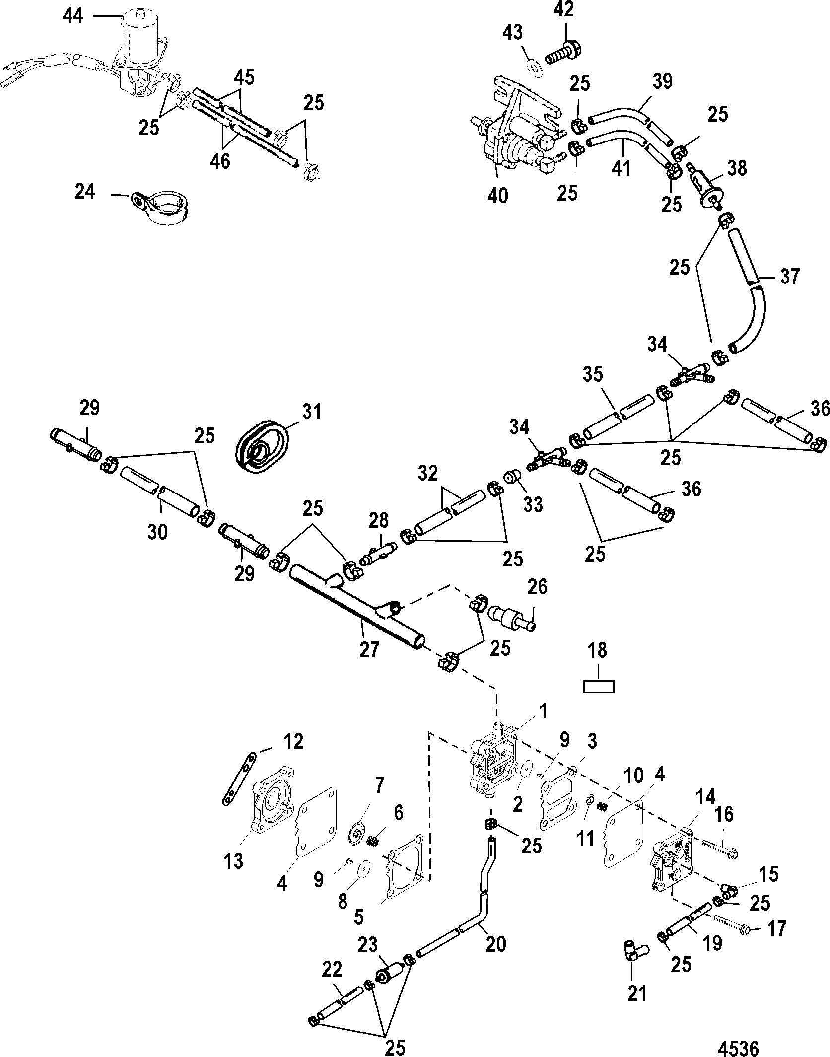 Fuel Pump For Mariner Mercury 115 125 Hp Jet 80 4