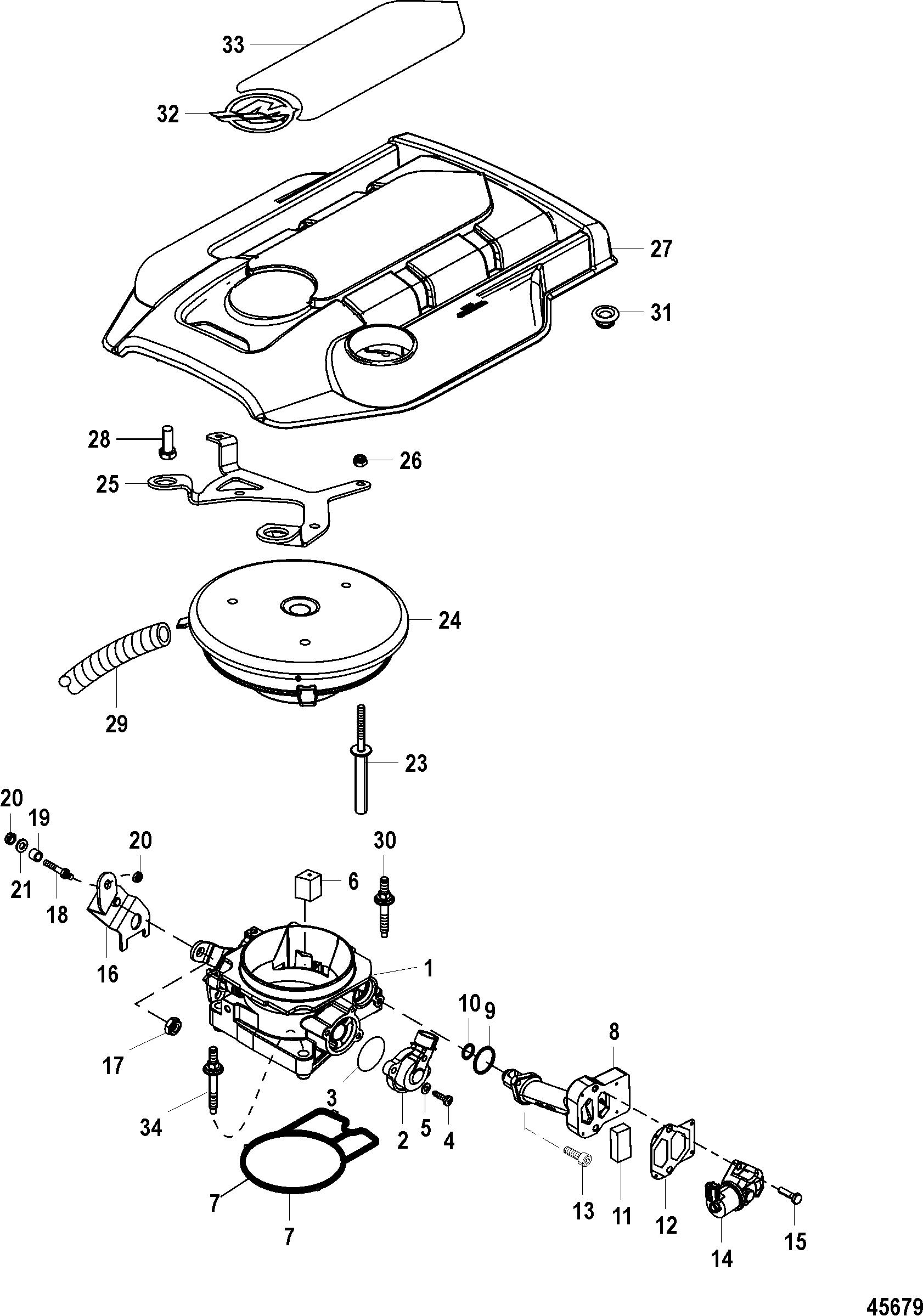 Throttle Body For Mercruiser 4 3l Mpi Alpha Bravo Ec