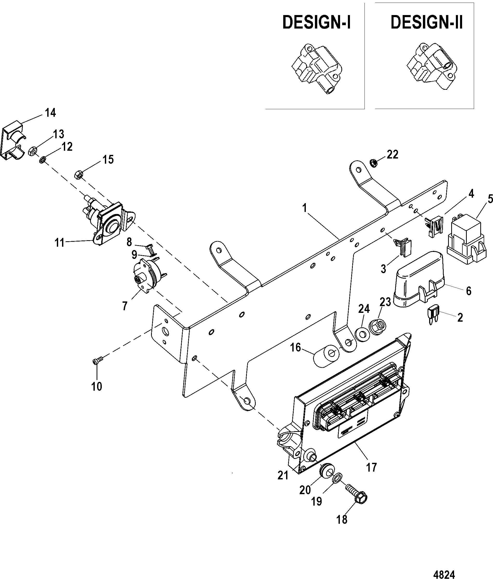 Pcm And Bracket For Mercruiser 496 Mag Sterndrive
