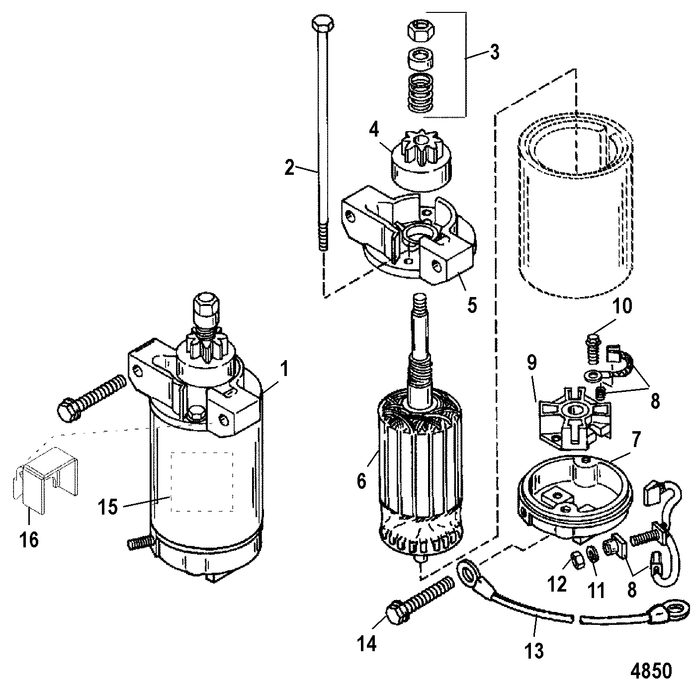 Starter Motor For Mariner Mercury 55 60 45 Jet 60