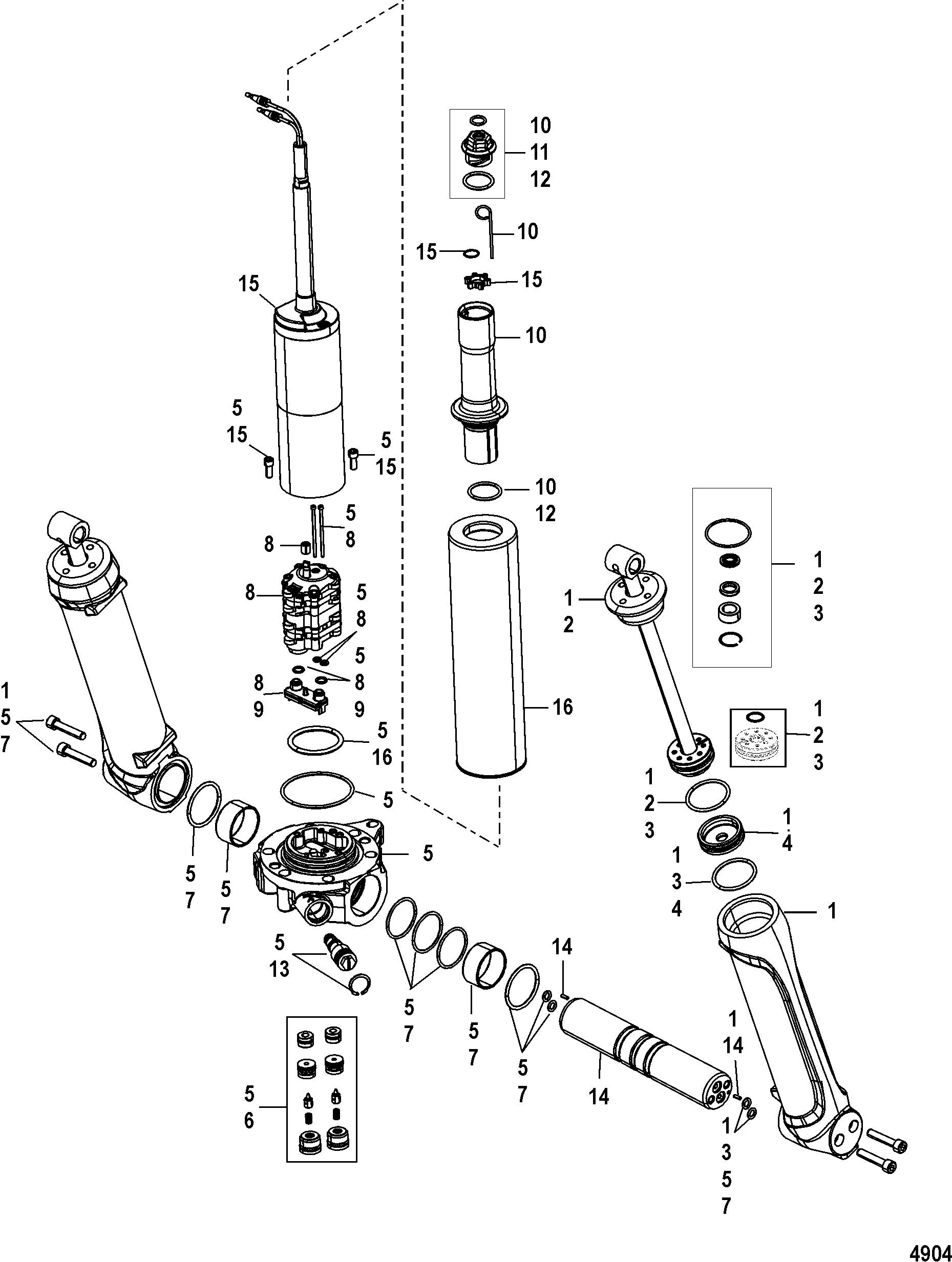 Power Trim Components For Mariner Mercury 200 225 250