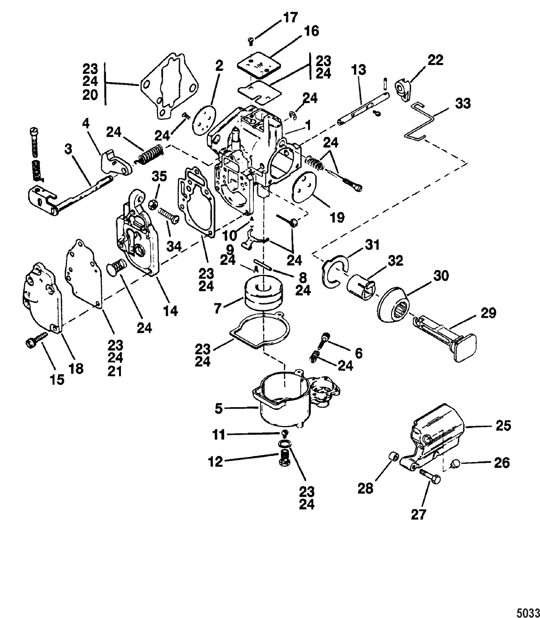 Carburetor Seapro Marathon 10 And 15 For Mariner Mercury