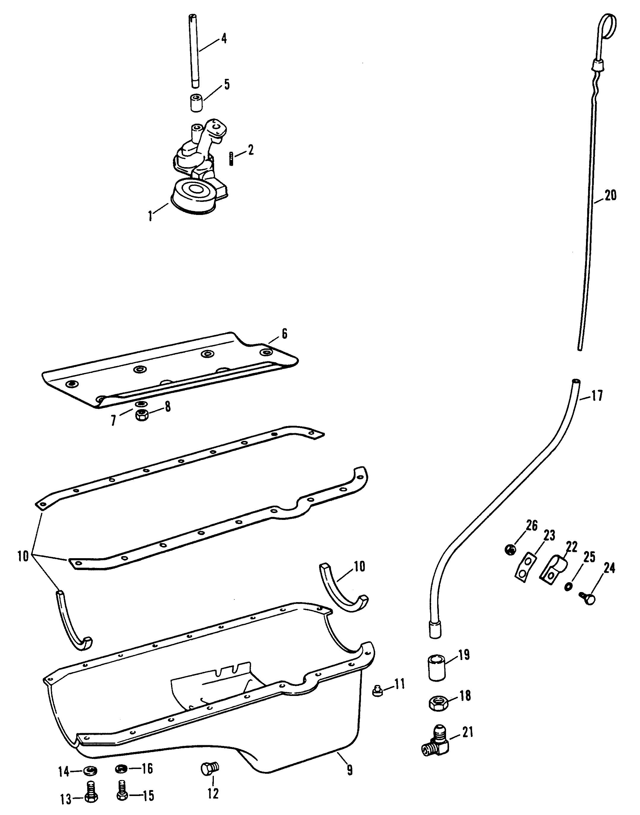 Oil Pan And Oil Pump Castoil Pan For Mercruiser 454 Magnum