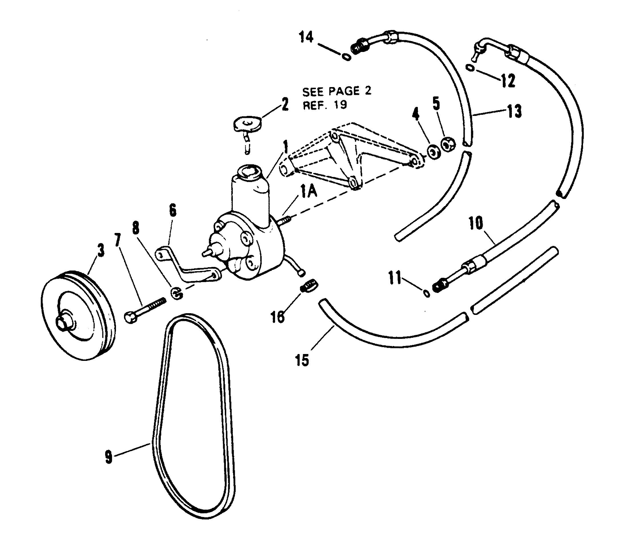 Power Steering Components For Mercruiser 454 Mag Bravo Gen V