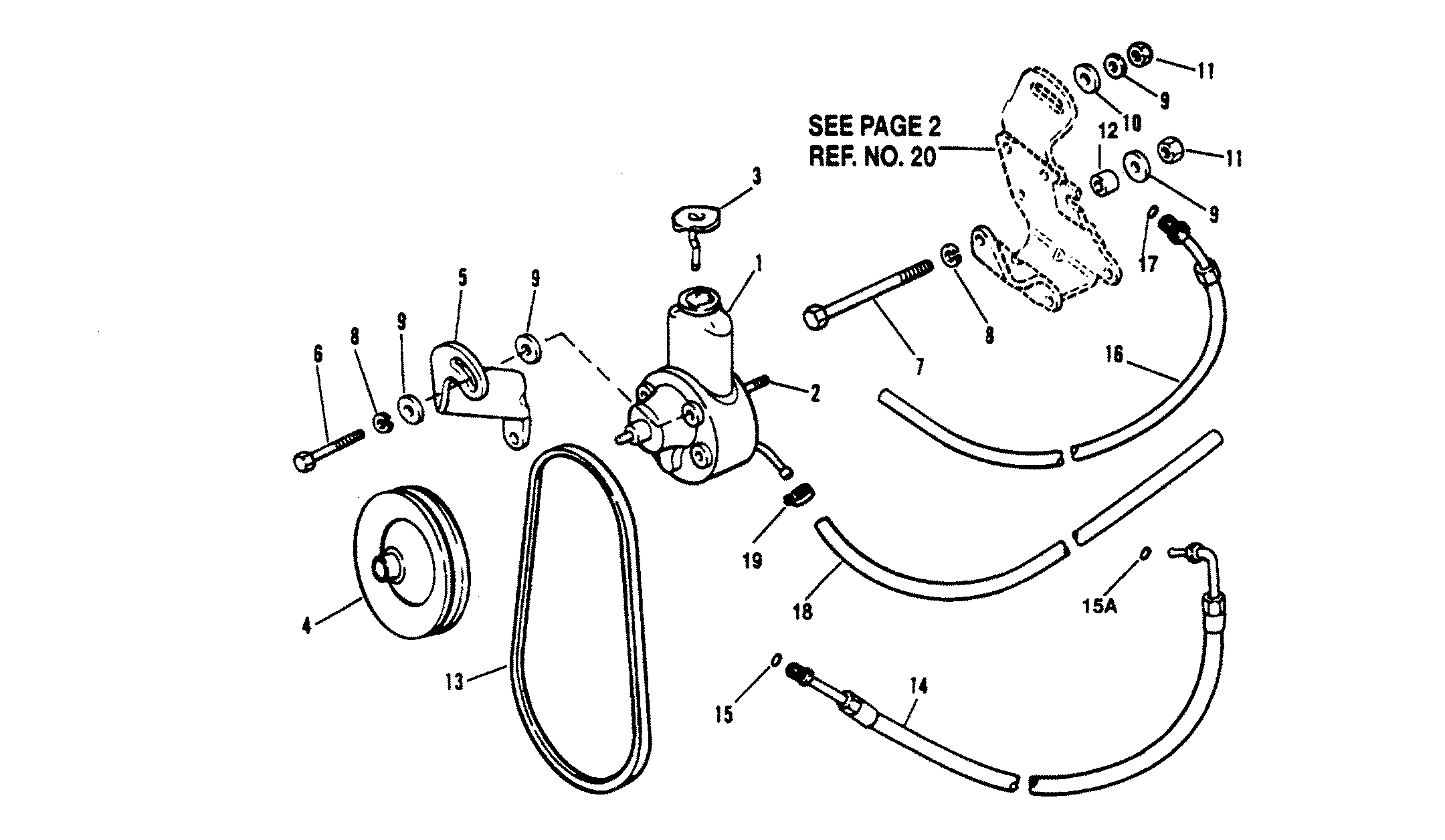 Power Steering Components For Mercruiser 5 7l Alpha Efi Tbi 5 7l Bravo Efi Tbi Engine