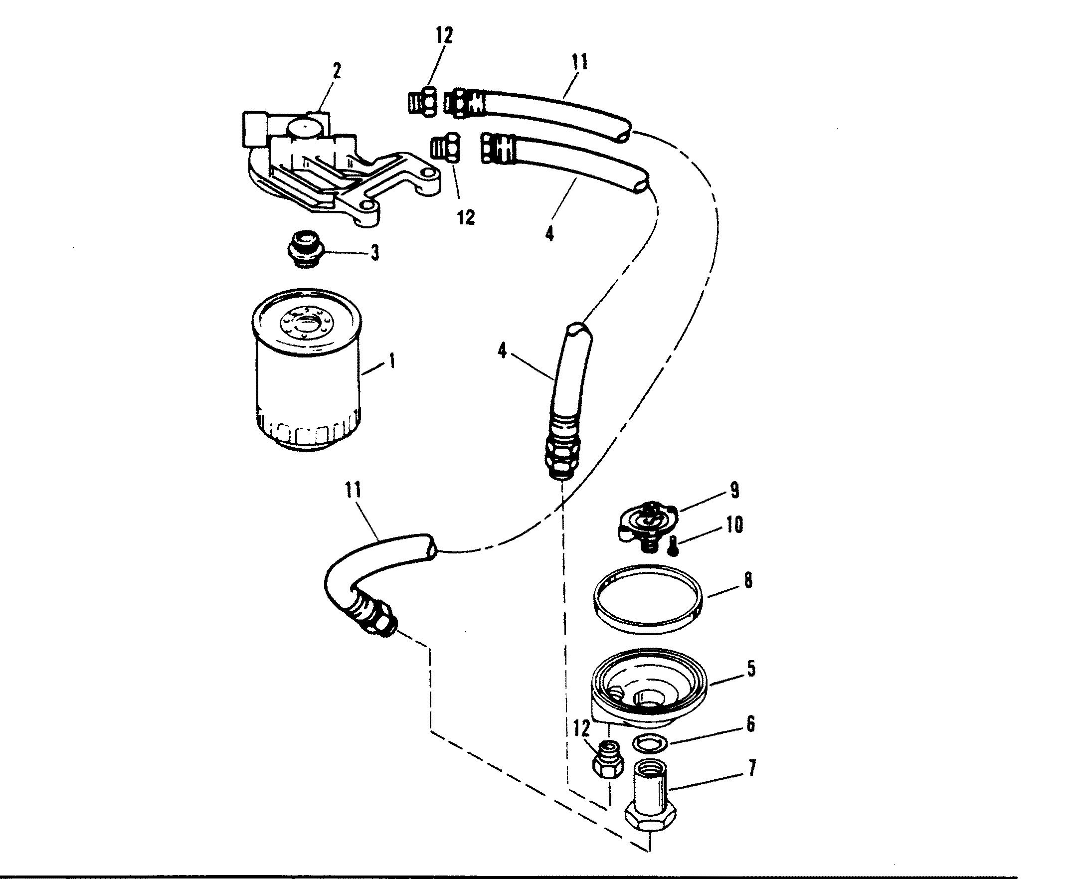 Oil Filter And Adaptor For Mercruiser 5 7l Alpha Efi Tbi 5 7l Bravo Efi Tbi Engine