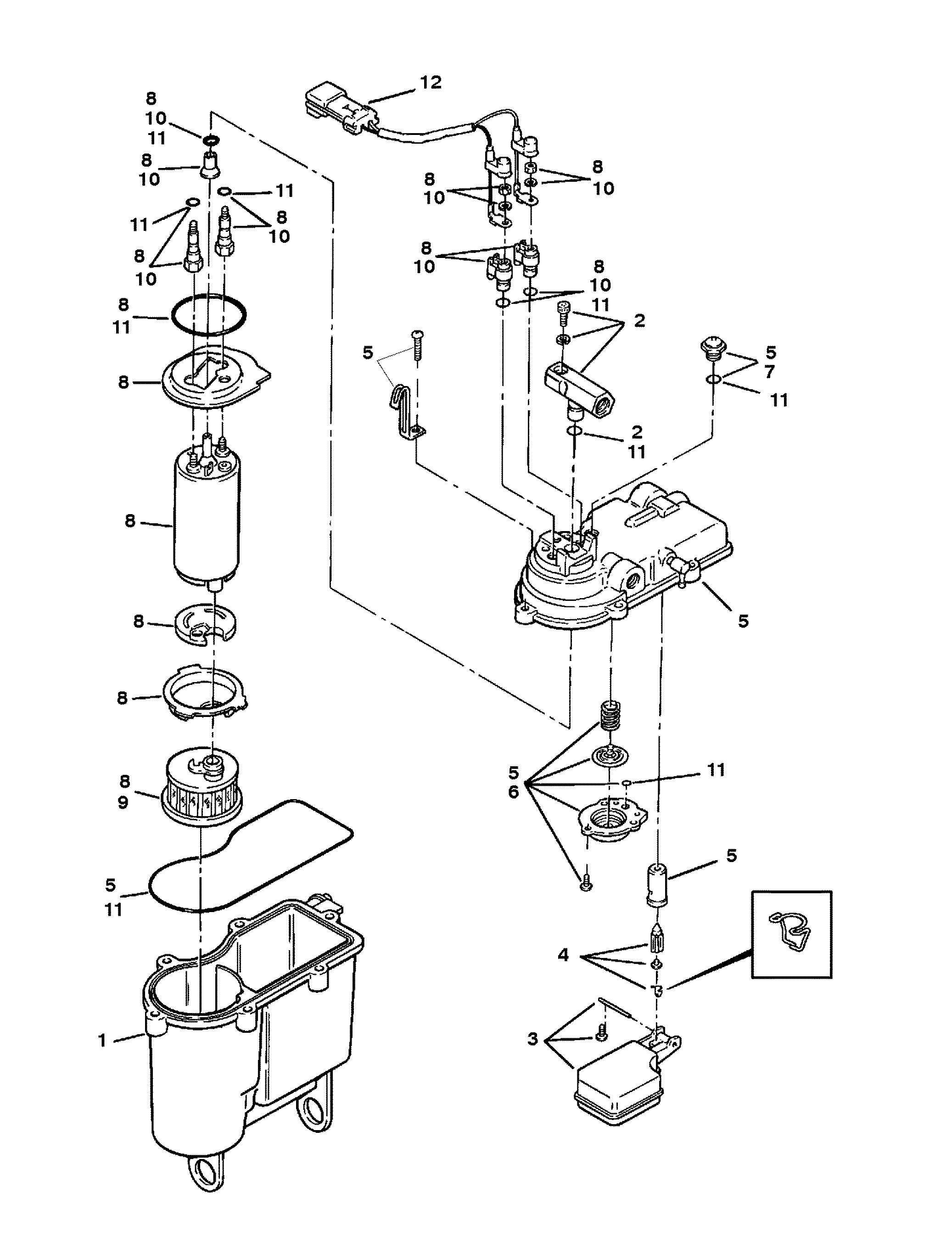 Vapor Separator Tank For Mercruiser 5 7l Lx Tbi Alpha Amp Bravo 2bbl 4bbl