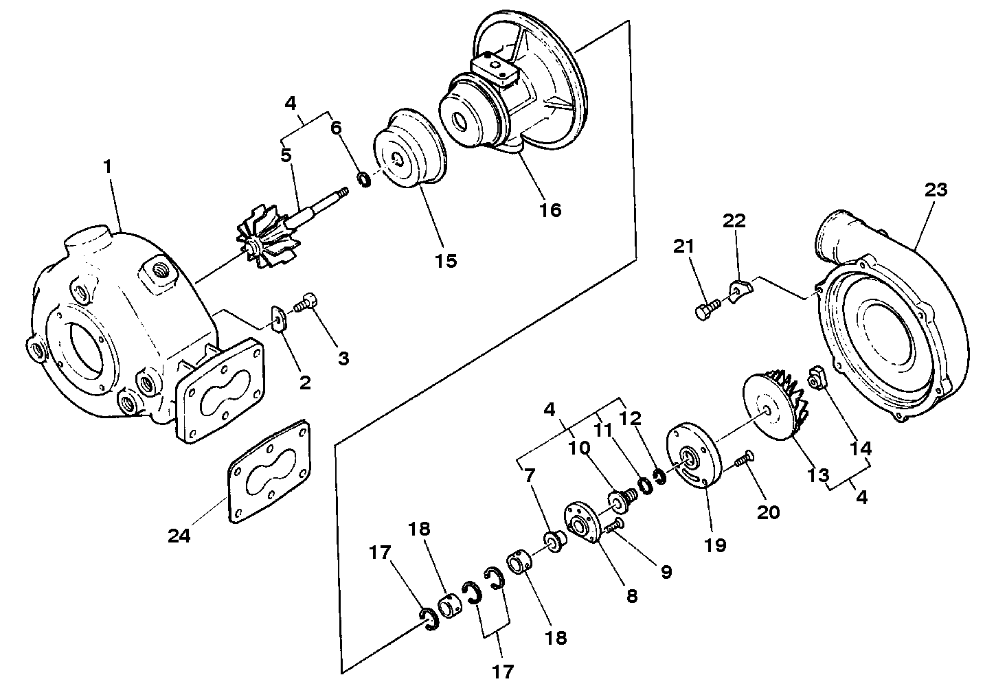 Turbocharger assembly 831001980 for hino 175 220 wiring diagram