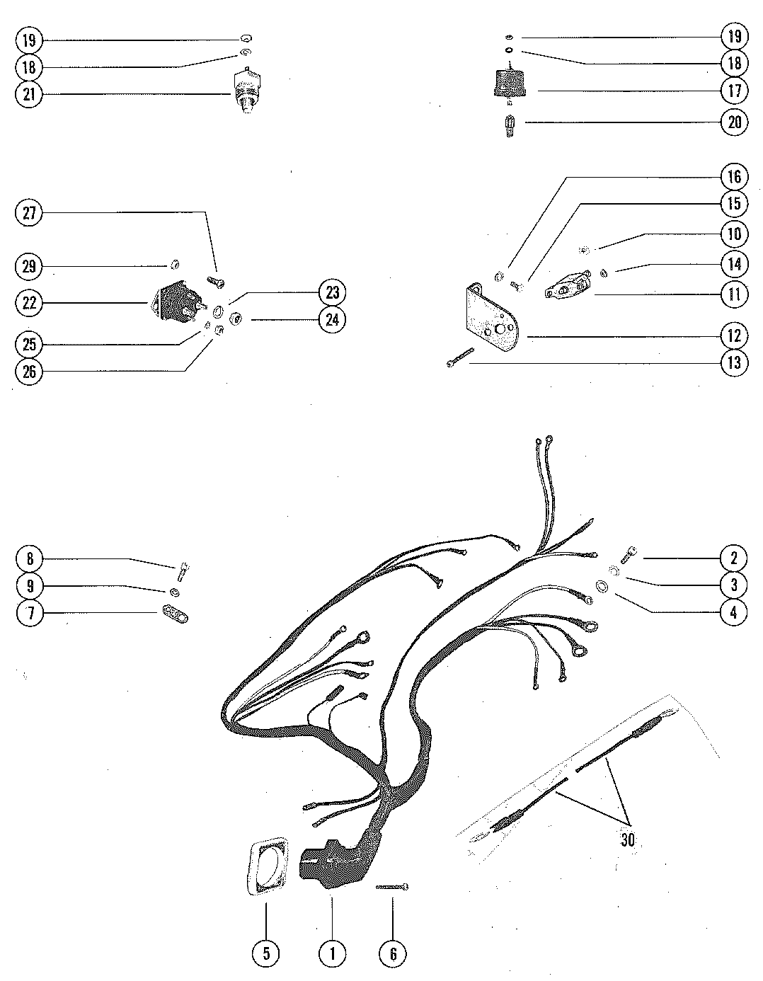 Mercruiser Trim Gauge Wiring Diagram Schematic 2019 Tilt Indicator Mercury And