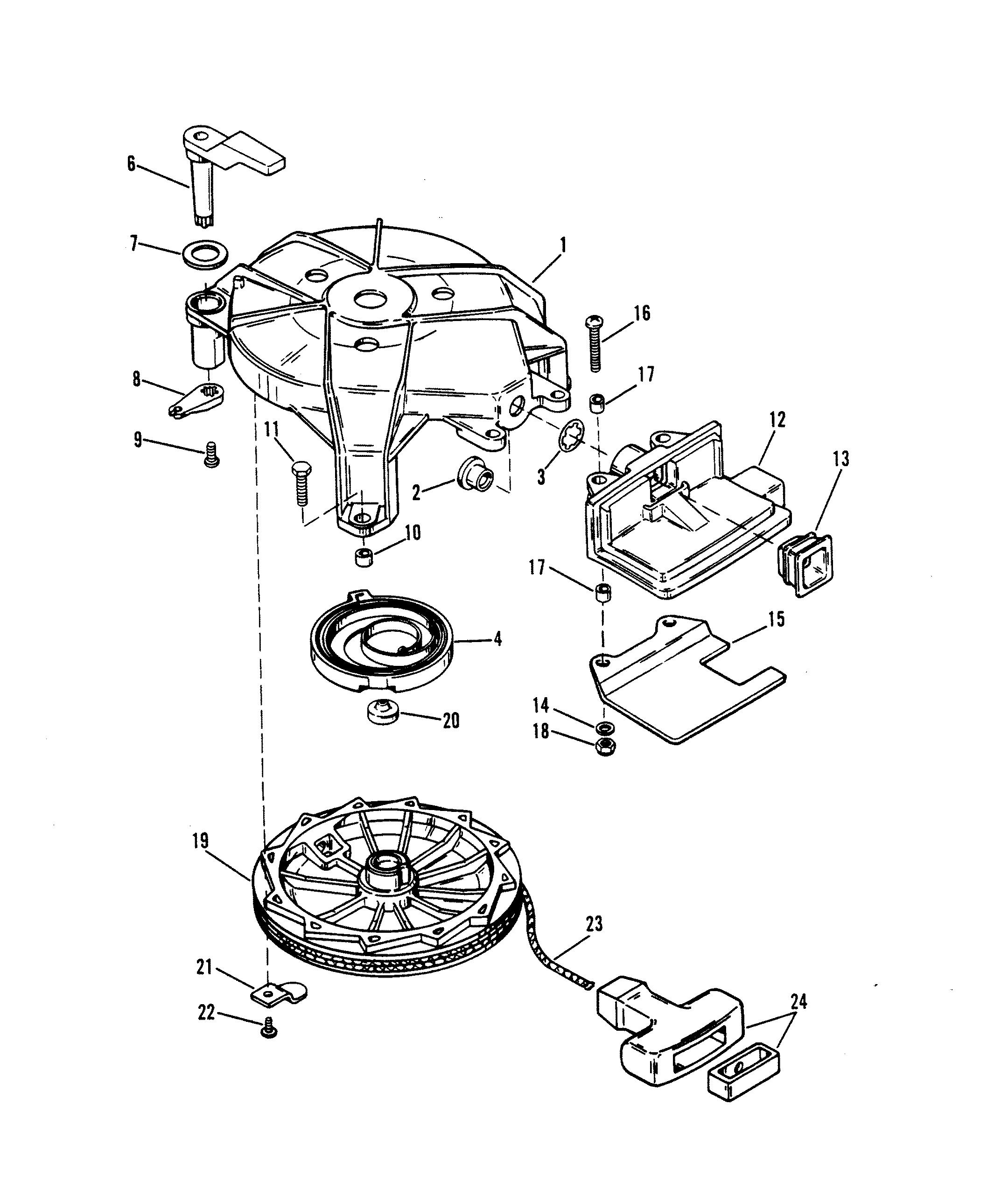 Manual Starter Design I For Mariner Mercury 6 8 Hp 9 9