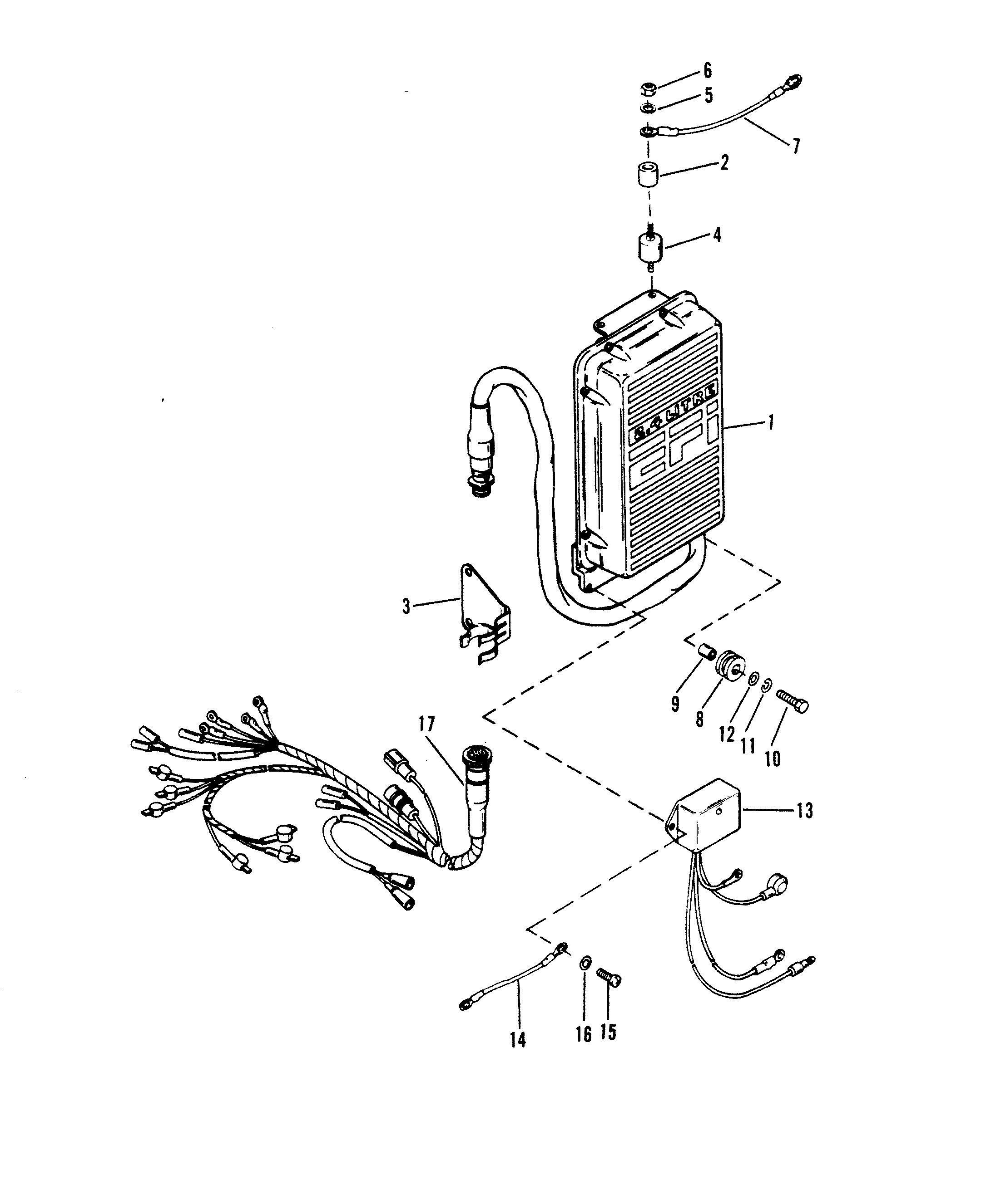 E C U Assembly For Mercury 200 Xri Efi V 6