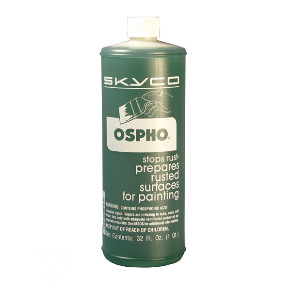 Ospho Metal Treatment is a rust converter that contains phosphoric acid