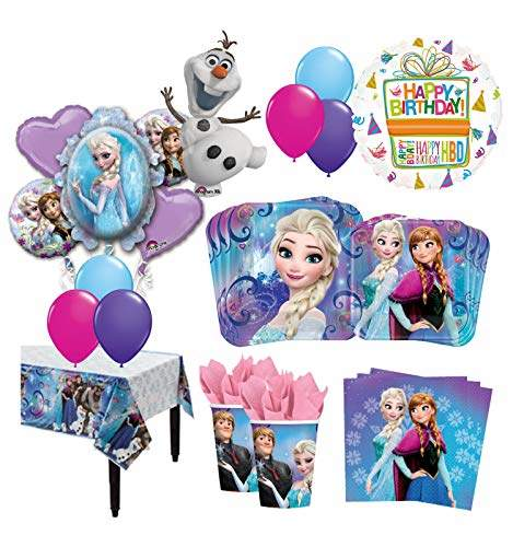 Buy Mayflower Products The Ultimate 16 Guest 95pc Frozen Olaf Anna Elsa Birthday Party Supplies And Balloon Decoration Kit Features Price Reviews Online In India Justdial
