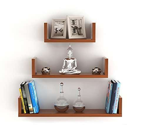 Buy Bluewud Caesar Wall Decor Book Shelf Wall Display Rack 3 Shelves Features Price Reviews Online In India Justdial