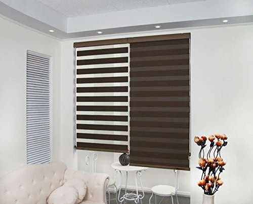 Buy Zebra Blinds For Windows Or Outdoor Decor The Home Coffee Colour Features Price Reviews Online In India Justdial