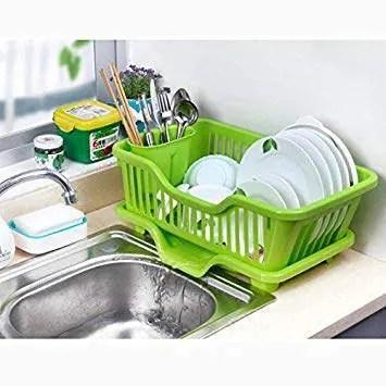 generic white washing holder basket pp great kitchen sink dish drainer drying rack organizer blue pink white tray 44 5x23x8cm egn005a