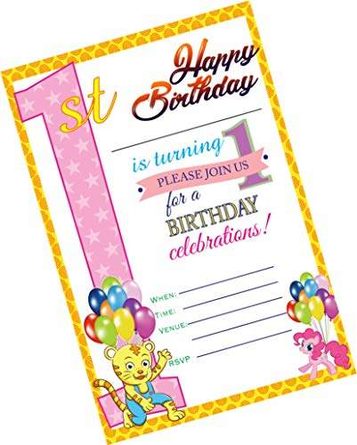 party stuff animals theme cards tiger 1st birthday invitation card invitation 16 cards kitty games