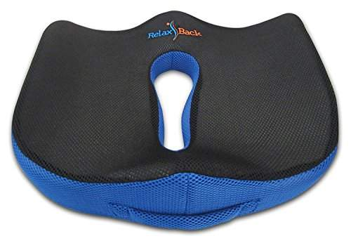 relaxback llc relax back coccyx seat cushion lower back pain relief orthopedic memory foam pad for office chair car seat pillow for sciatica