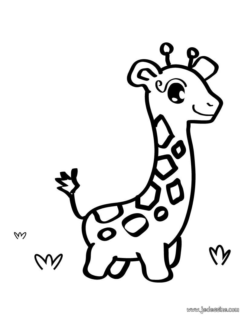 coloriage gratuit pour les petits coloriage d une girafe