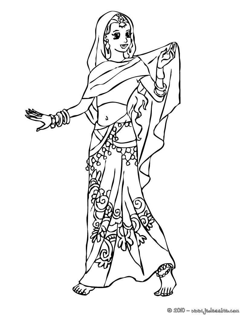 Japanese Princess Coloring Pages