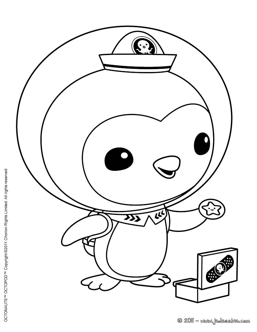 penguin octonauts colouring pages