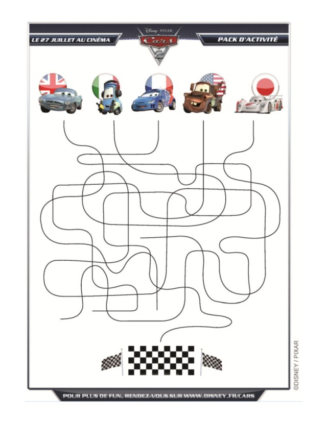Jeux de labyrinthe cars 28 - fr.hellokids.com