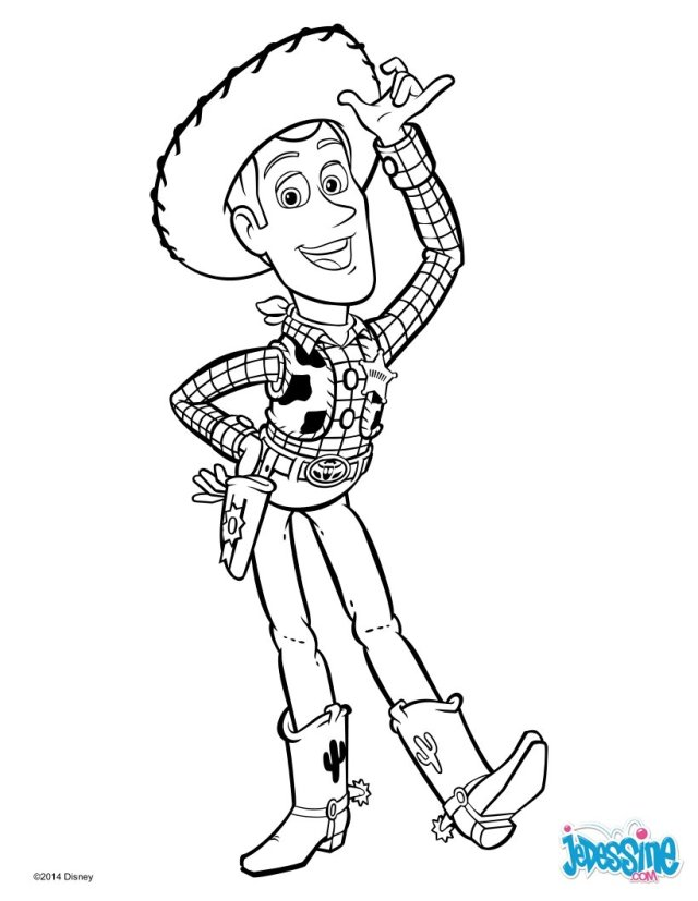 Coloriages toy story - woody le cowboy - fr.hellokids.com
