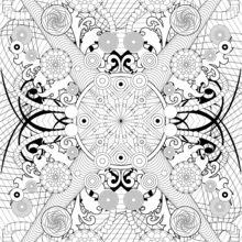 Coloriages Mandala Motifs Naturels Frhellokidscom