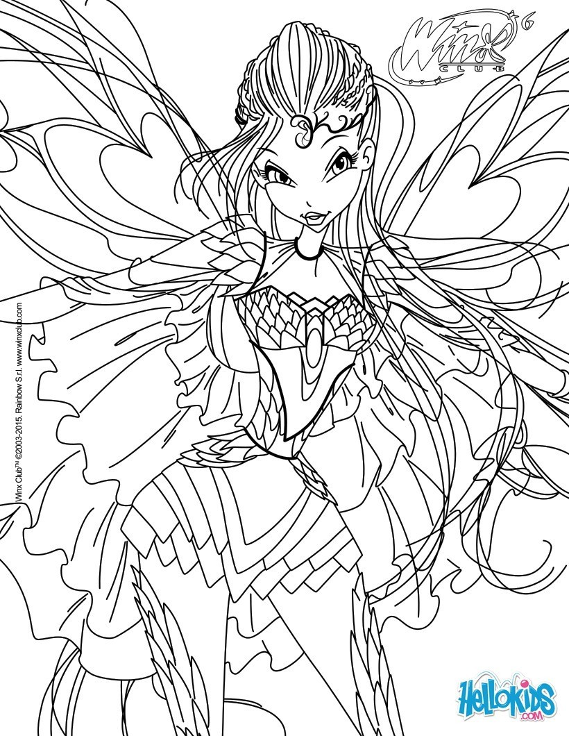 Transformation Sirenix Club Winx Coloring Pages Flora