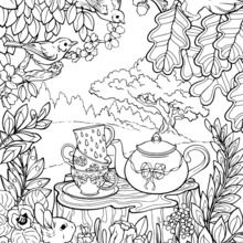 Coloriages Mandala Jardin Secret Frhellokidscom