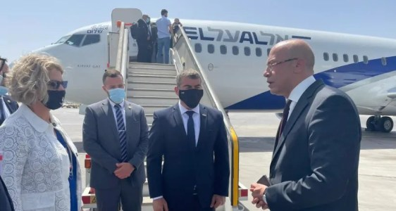 Ashkenazi lands in Egypt in first Foreign Minister visit in 13 years