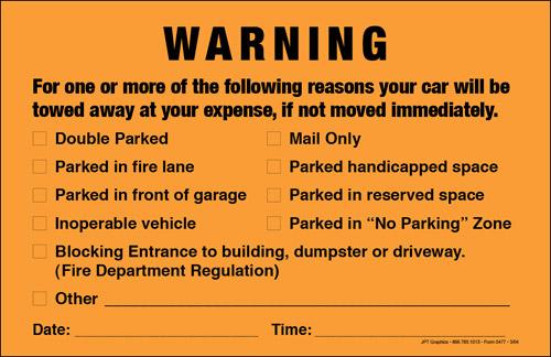 Parking Violation Notice Template Free Download