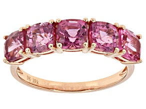 Spinel Jewelry  Shop Affordable Spinel Jewelry   JTV com Pink Burmese Spinel 10k Rose Gold Ring 3 50ctw